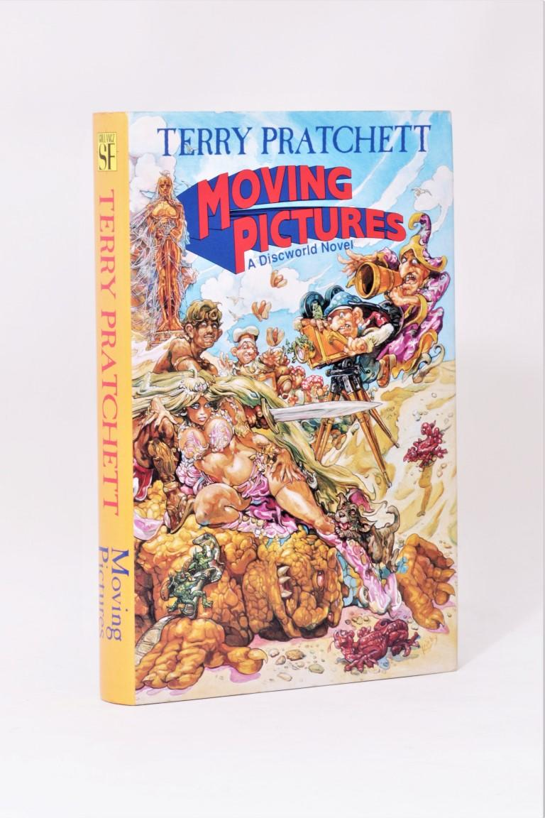 Terry Pratchett - Moving Pictures - Gollancz, 1990, First Edition.  Signed