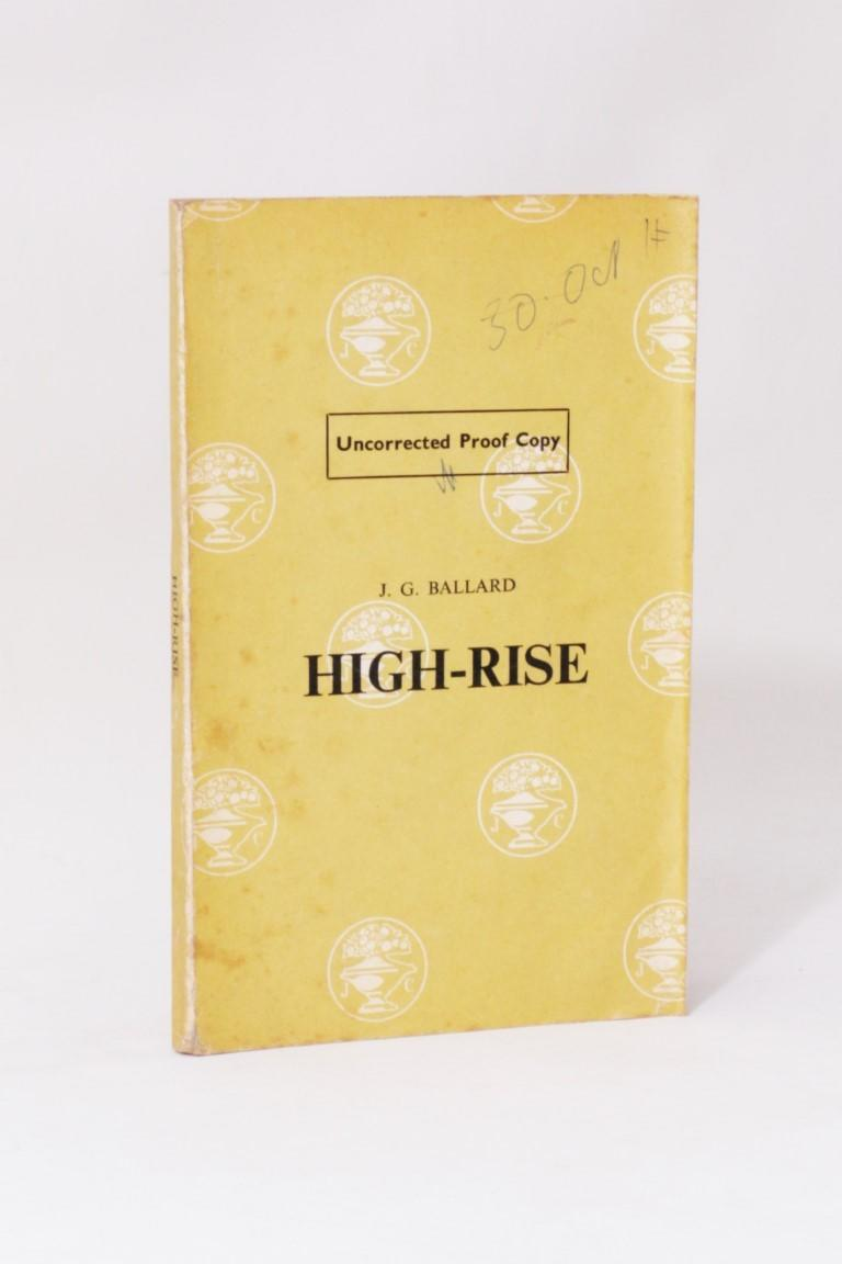 J.G. Ballard - High-Rise - Jonathan Cape, 1975, Proof.