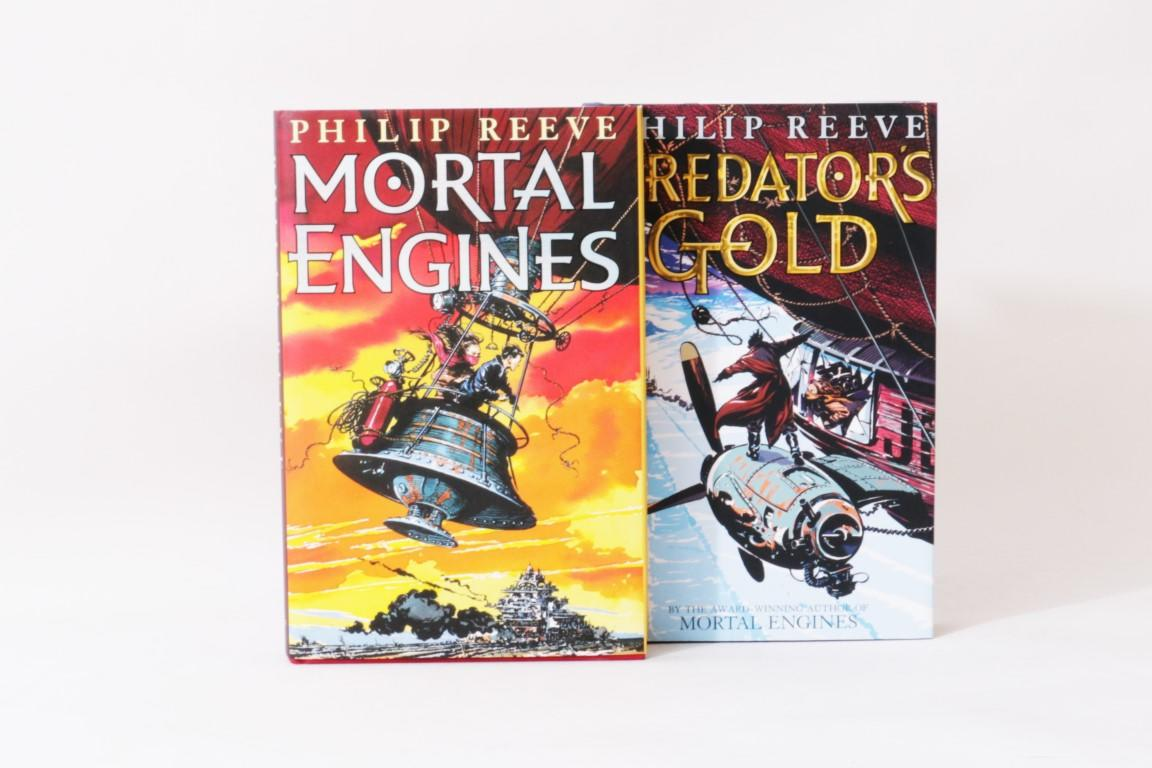 Philip Reeve - Mortal Engines w/ Predator's Gold - Scholastic Press, 2001 & 2003, First Edition.