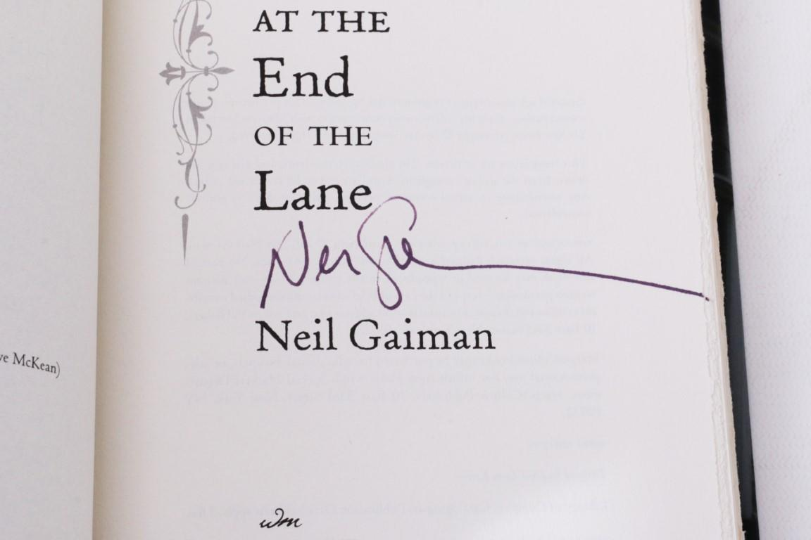 Neil Gaiman - The Ocean at the End of the Lane - William Morrow, 2013,  Signed