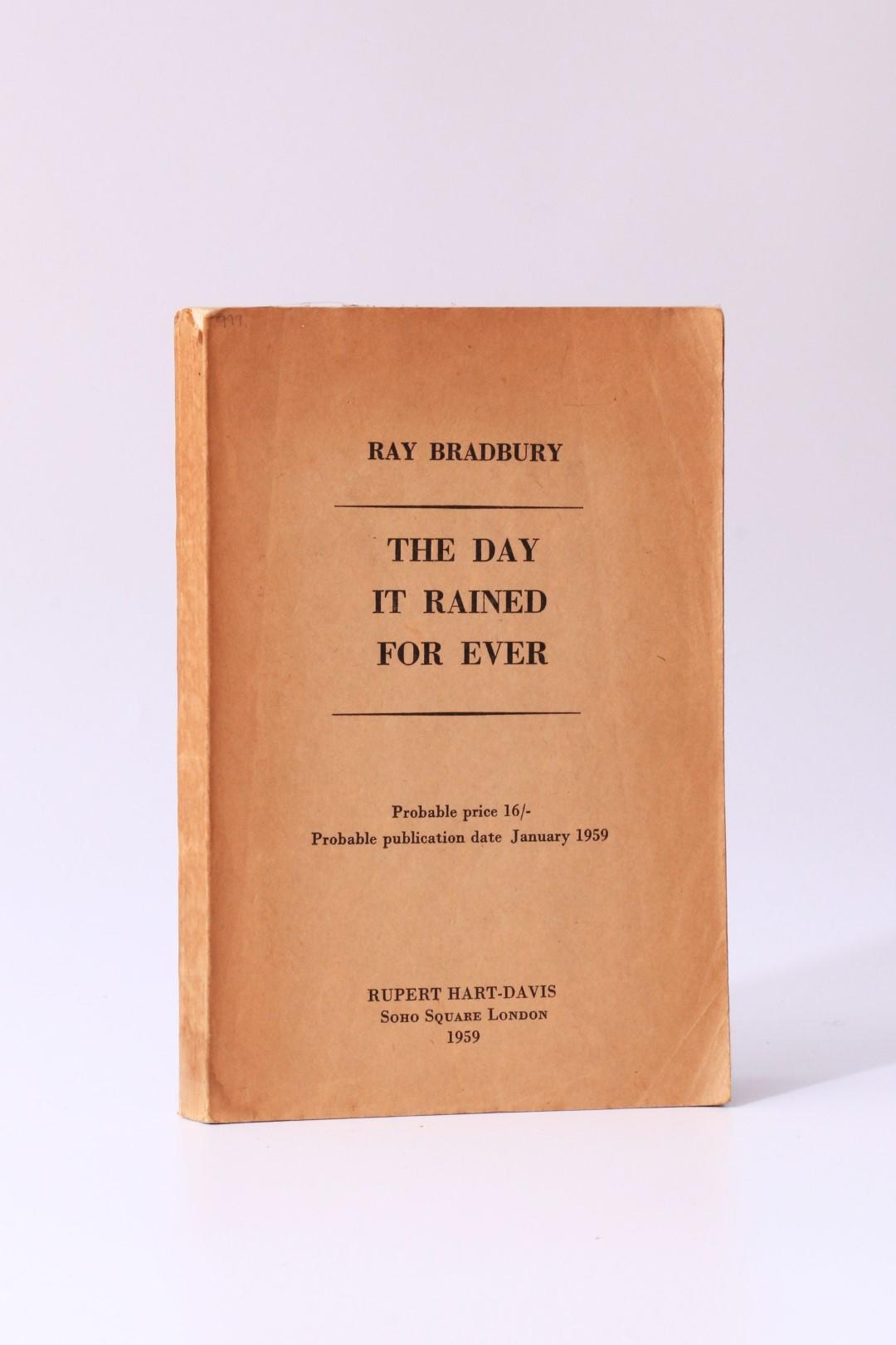 Ray Bradbury - The Day it Rained For Ever - Rupert Hart-Davis, 1959, Proof.