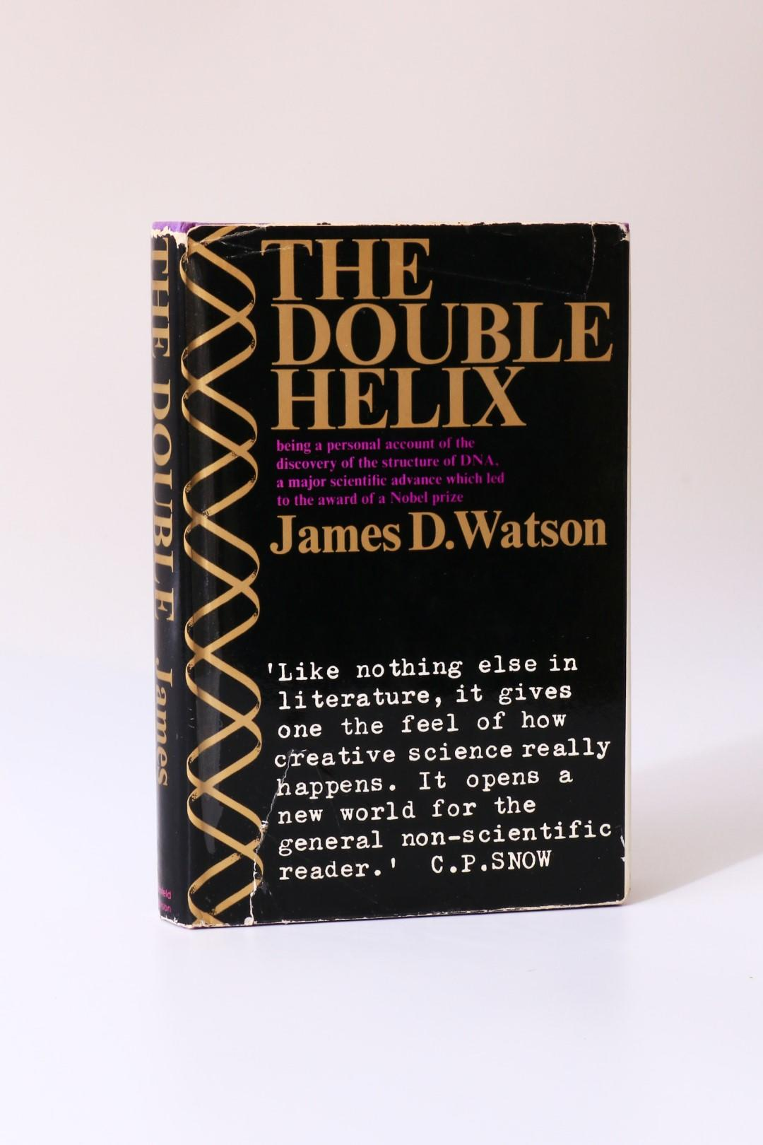 James D. Watson - The Double Helix - Weidenfeld & Nicolson, 1968, First Edition.