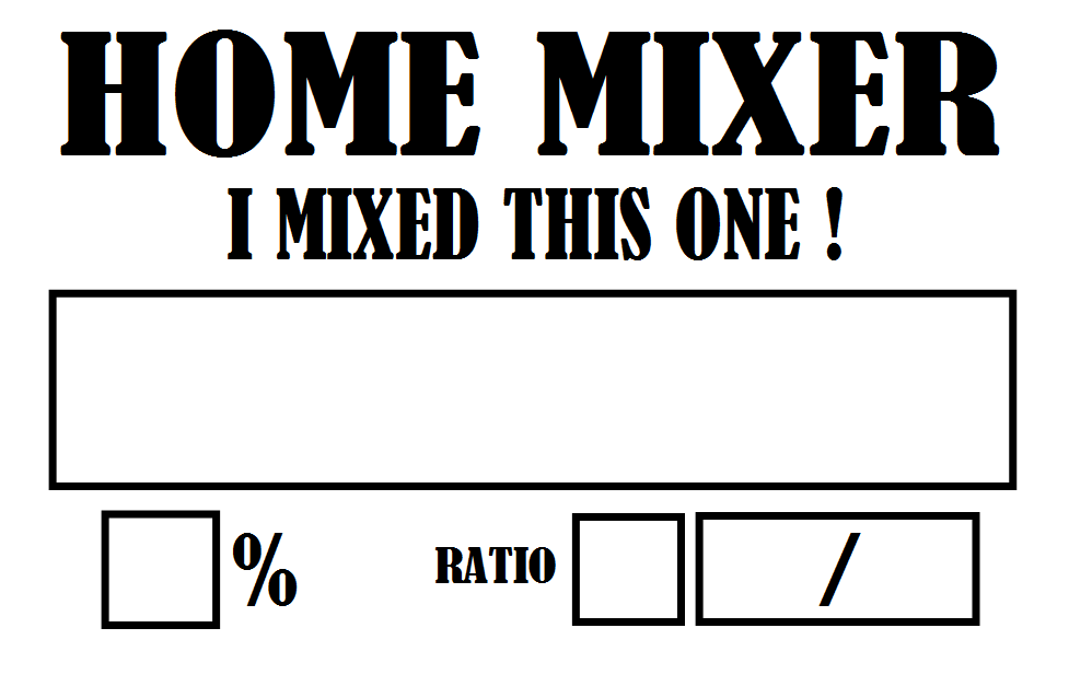 Home Mixer Labels