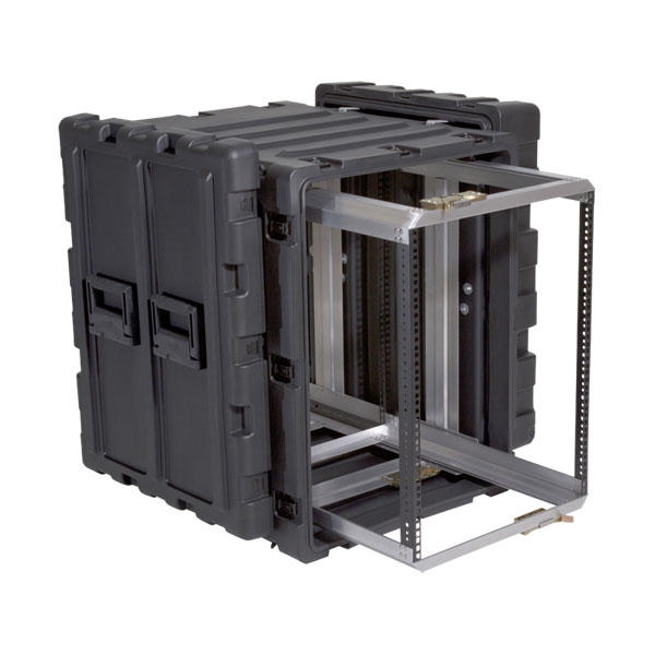 SKB 3RR-14U24-25B - 24 Inch Deep Removable Shock Rack Case - 14U