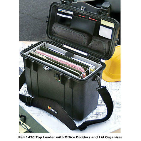 Peli 1430 Top Loader Case with Office Dividers