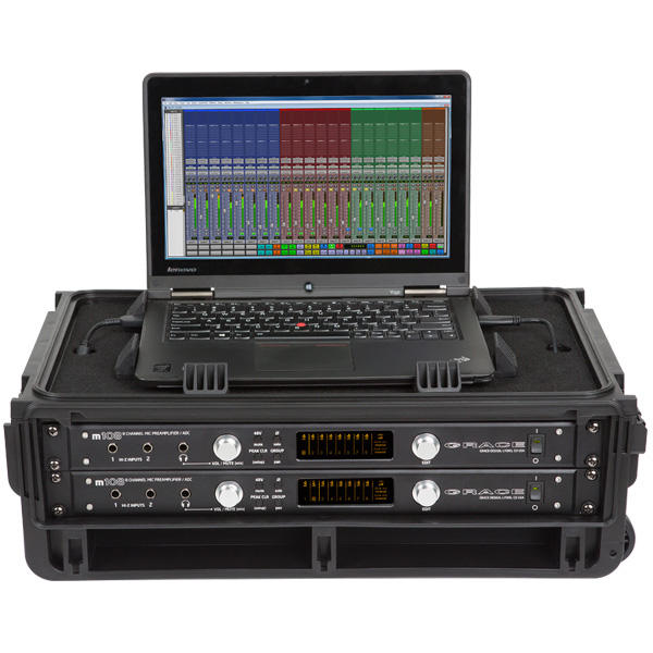 SKB 1SKB-iSF2U Studio Flyer - Rack and Laptop Combo Case - 2U
