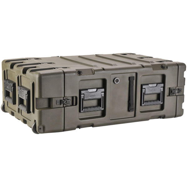 SKB 3RR-4U24-25B - 24 Inch Deep Removable Shock Rack Case - 4U