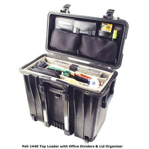 Peli 1440 Top Loader Case with Office Dividers