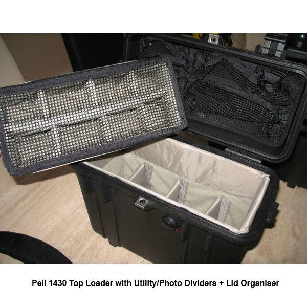 Peli 1430 Top Loader Case with Utility/Photo Dividers