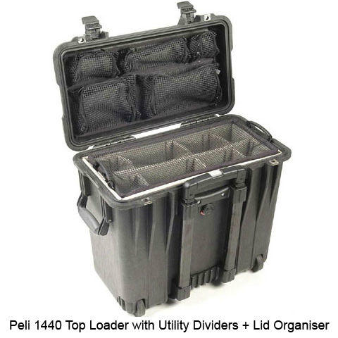 Peli 1440 Top Loader Case with Utility/Photo Dividers