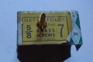 Nettlefold brass screws
