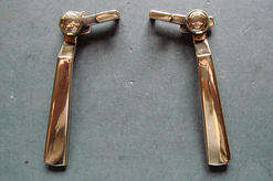 Original pair of Crittall brass window catches
