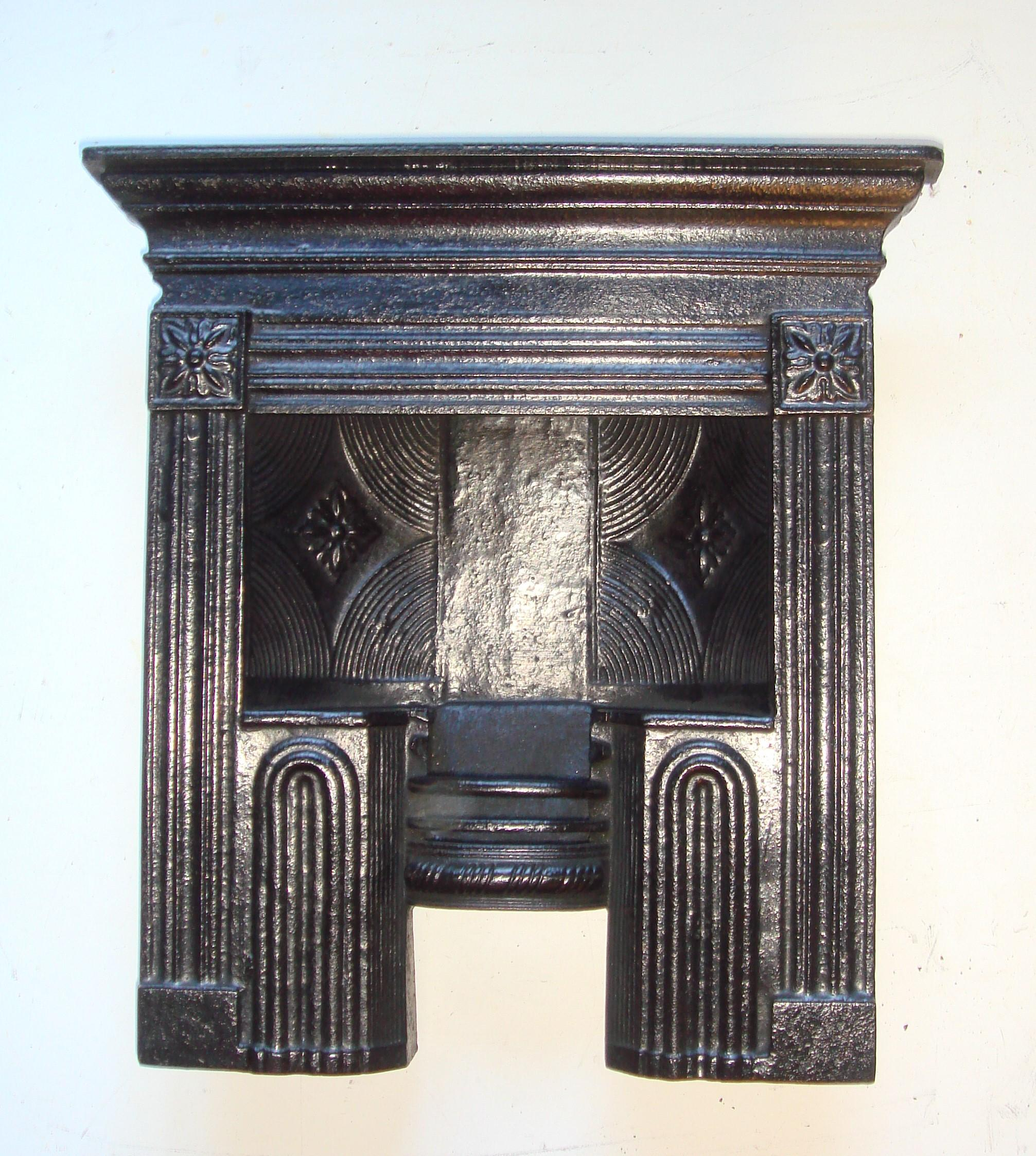 Miniature cast iron Georgian hob grate fireplace