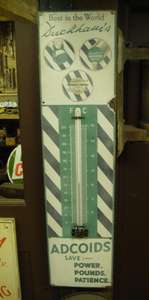Vintage Garage Enamel Wall Thermometer Advertising Duckhams Adcoids