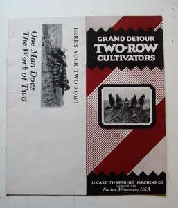 1930's Case Grand Detour Two-Row Cultivators 12-Page Sales Catalogue