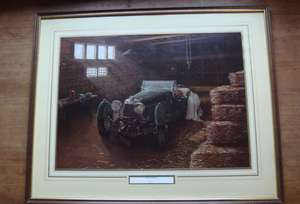 Aston Martin in Barn by David Player Framed & Glazed Print