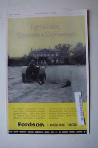 1937 2-Sided Advertisement for International & Fordson Agricultural Tractors