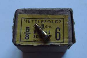 Nettlefolds brass CSK wood screws