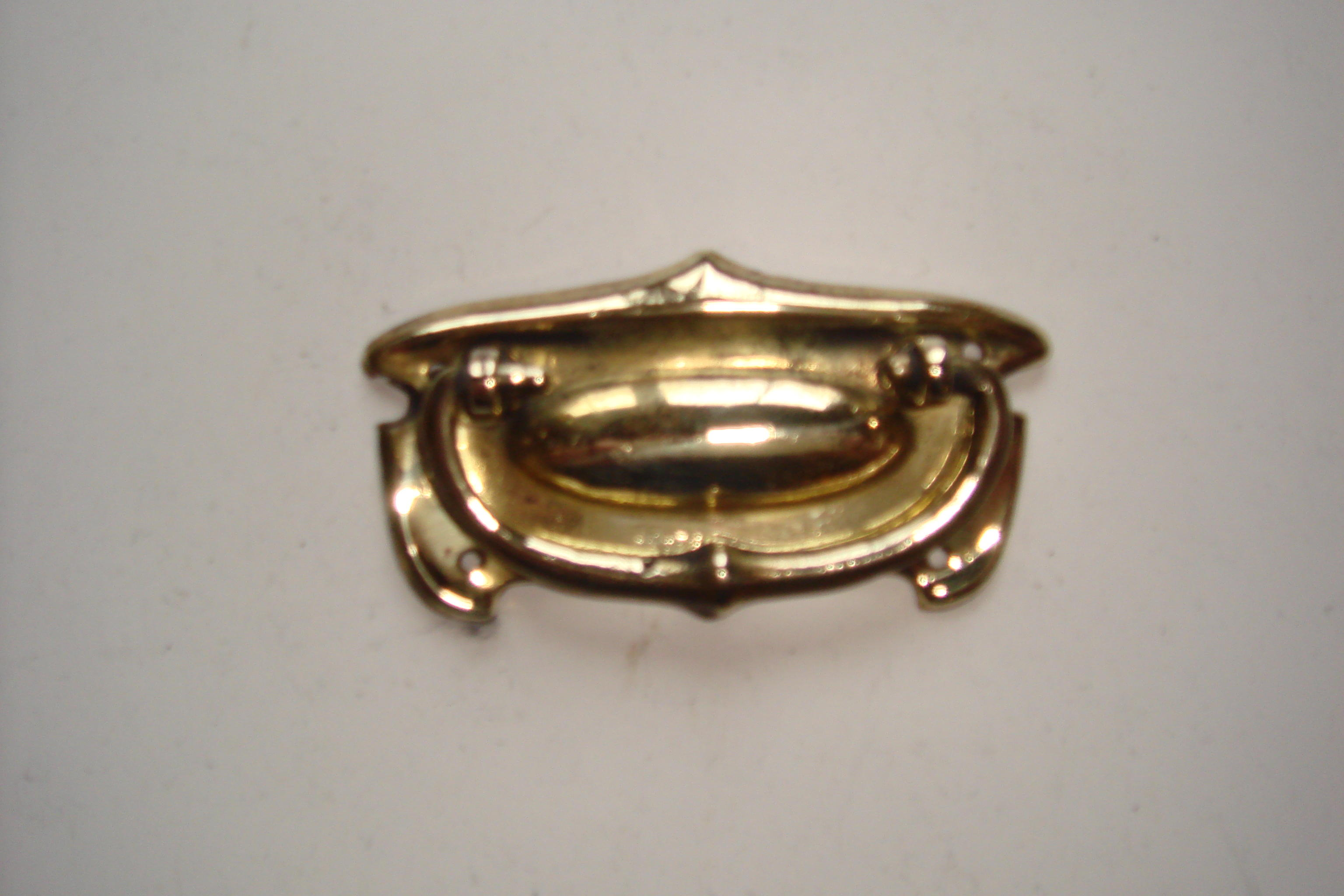 Edwardian Brass Chest or Drawer Plate Handle of 1910