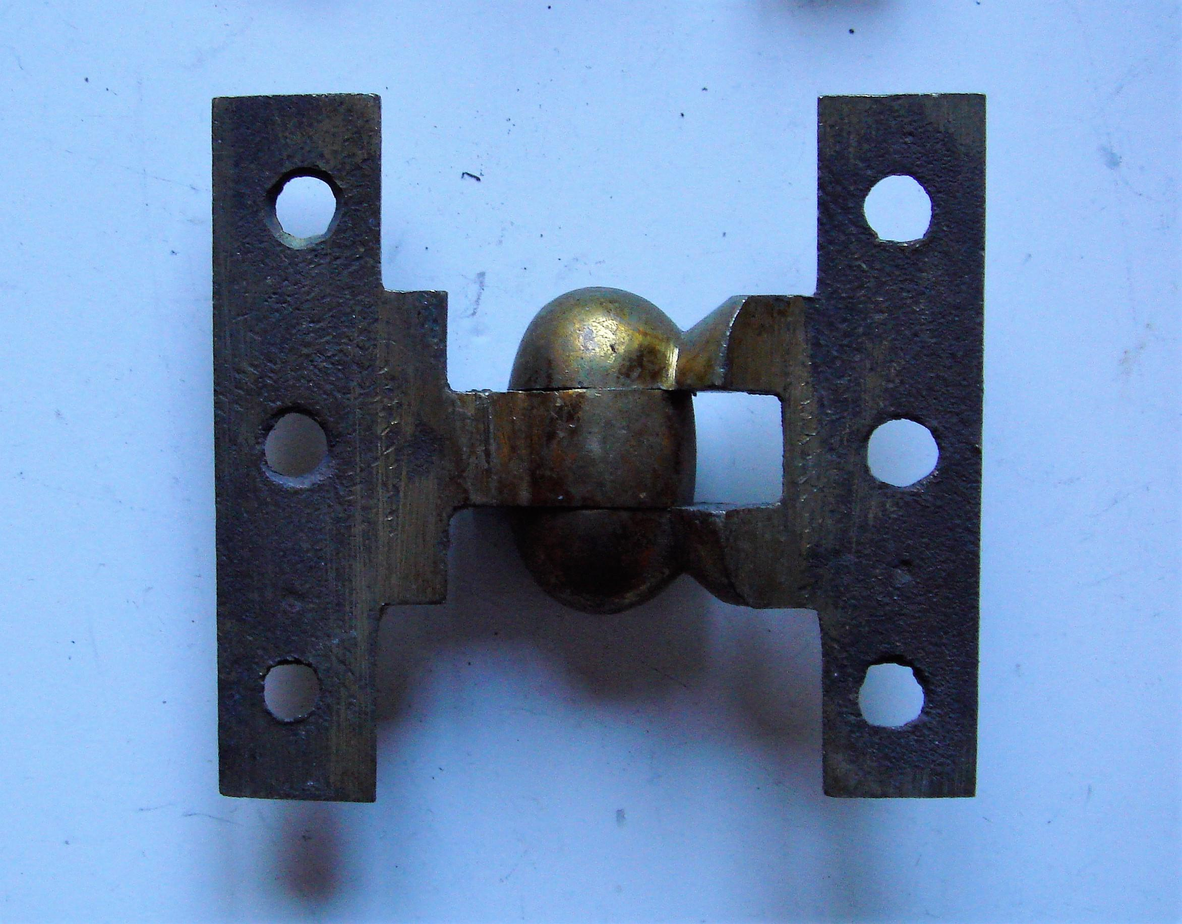 Genuine Antique Brass Cabinet Hinges with Egg Shaped Knuckles