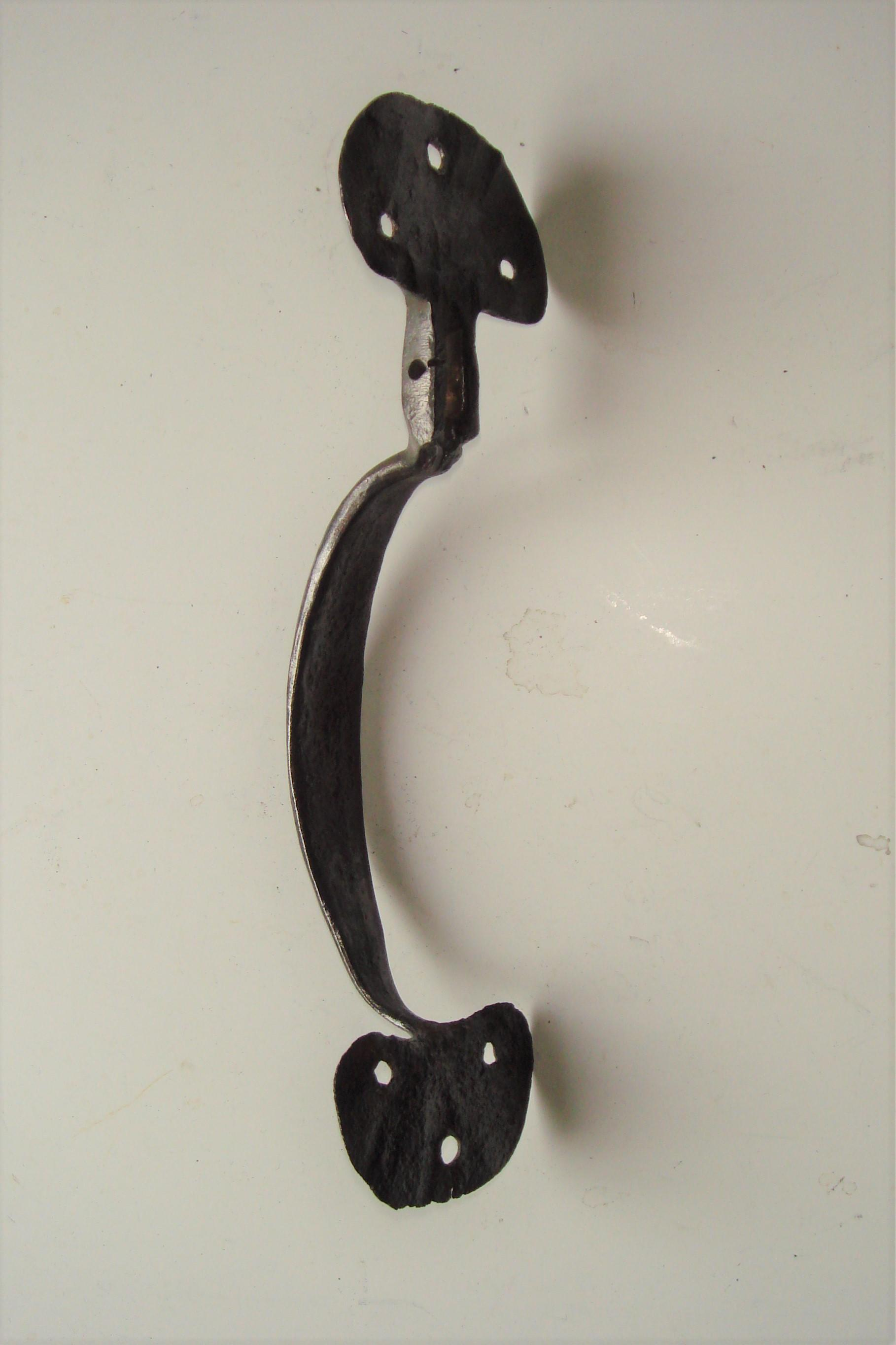 18th Century Wrought Iron Door Pull Handle