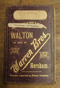 Collectable Walton-on-Thames Warren Bro's Edwardian Bakers, Cooks & Confectioners Shop Order Book