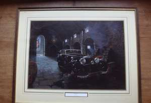 Mercedes-Benz Cabriolet by David Player Framed & Glazed Print