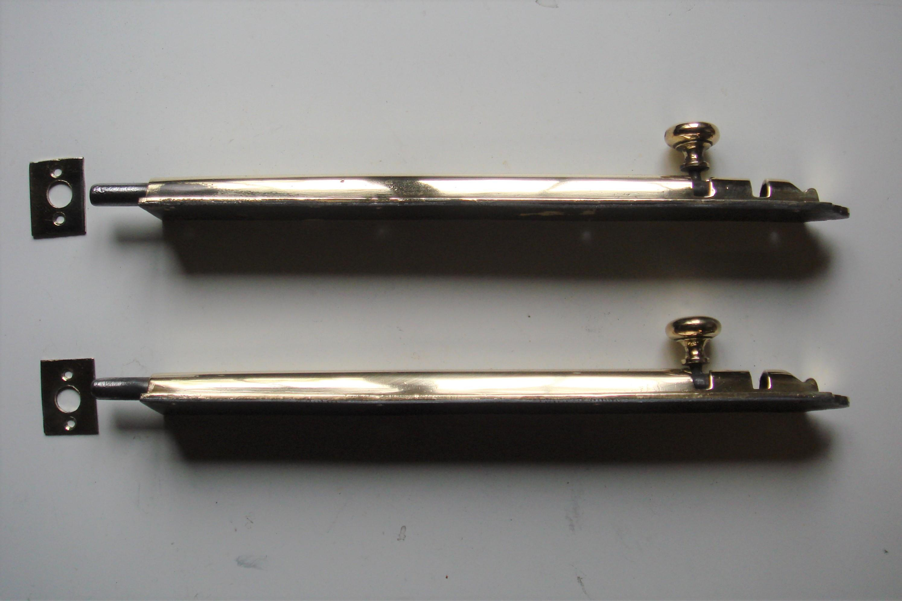 Victorian 12 inch Brass Door Bolts