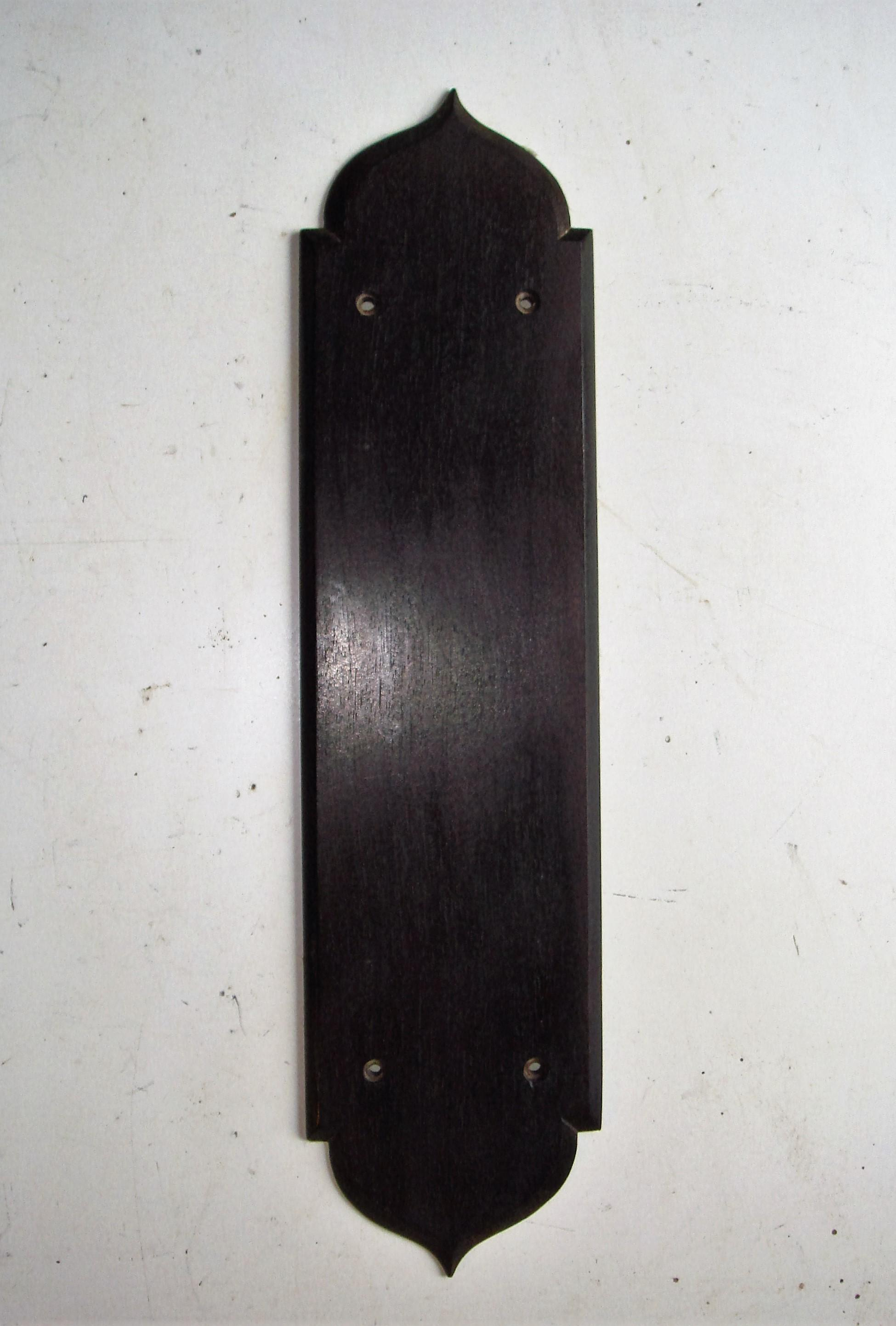 Original Edwardian Rosewood Door Finger Plate