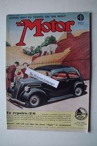 Genuine 1939 Priced Full Colour Advert for The Ford Eight Saloon & De Luxe.