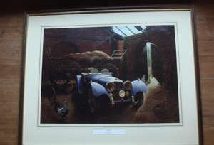 Jaguar SS 100 Sports Car by David Player Framed & Glazed Print.