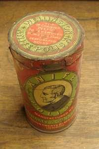 Vintage Wellington Knife Polish Tin with Original Colour Labels