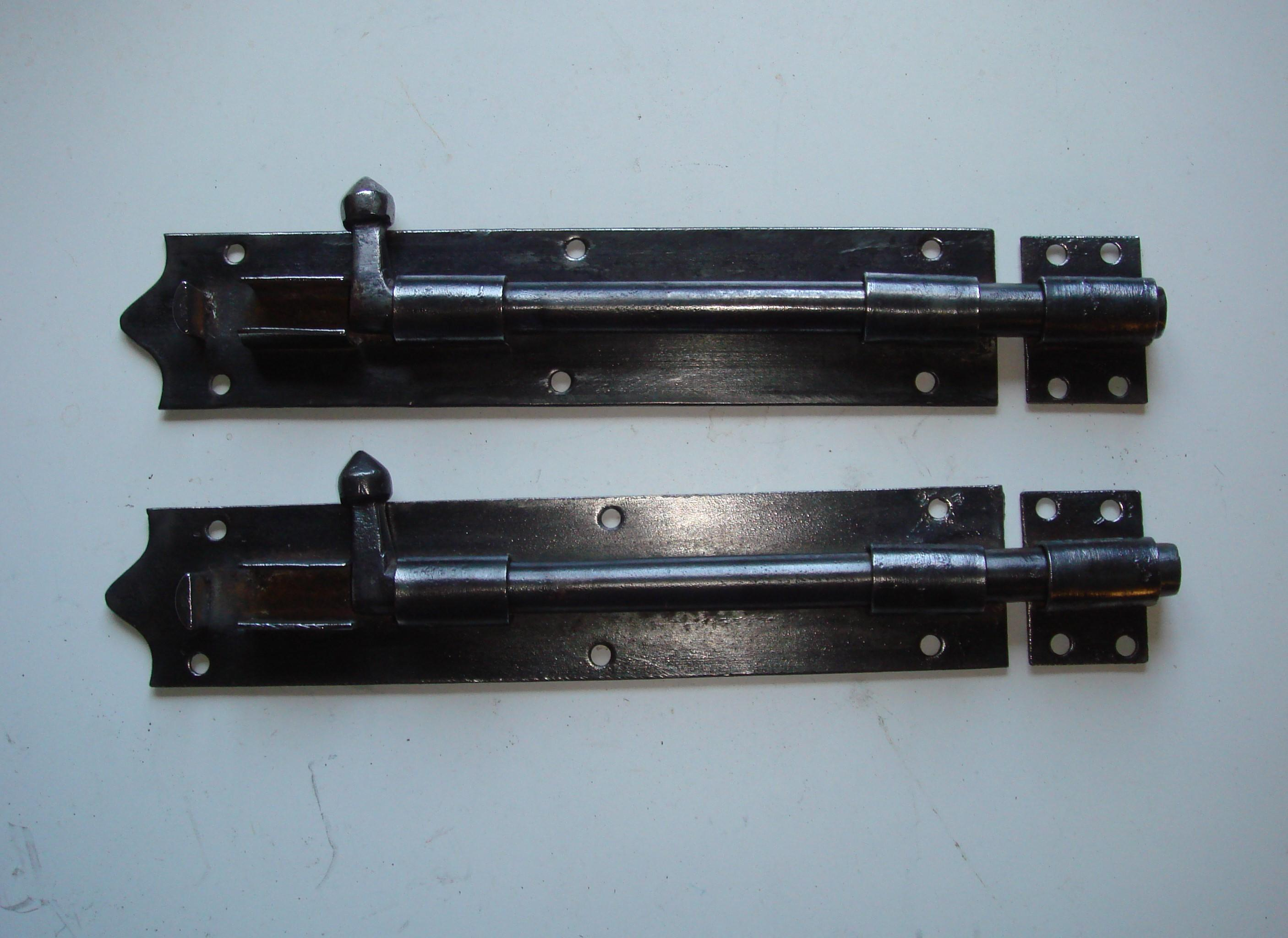 Pair of Victorian Iron 10 inch Door or Gate Bolts