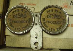 Vintage Desmo Commercial Vehicle Licence Holder