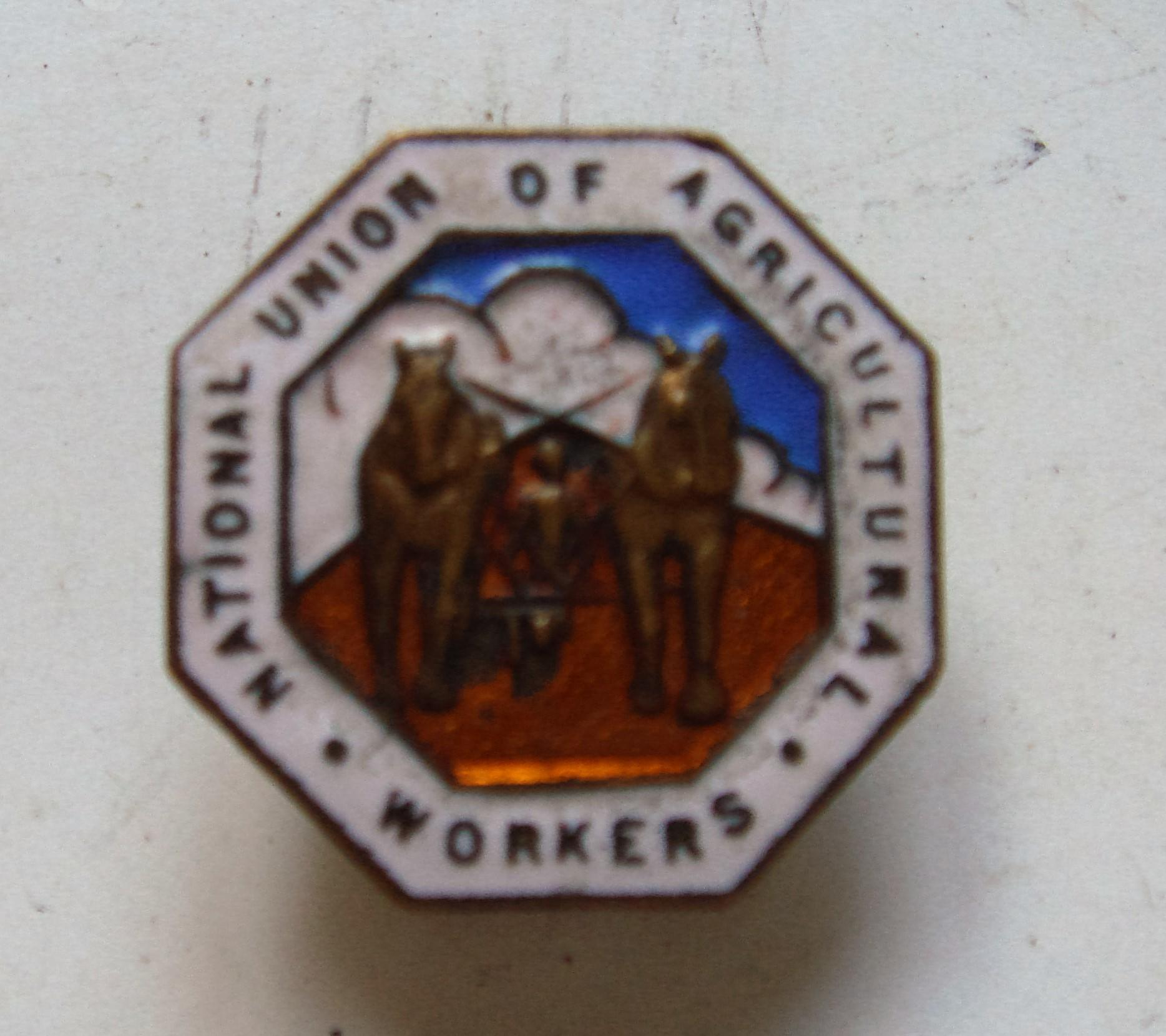 National Union of Agricultural Workers Enamelled Lapel Badge