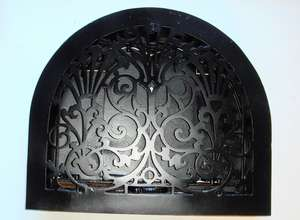 Decorative Victorian Arched Air Vent with Adjustable Louvres
