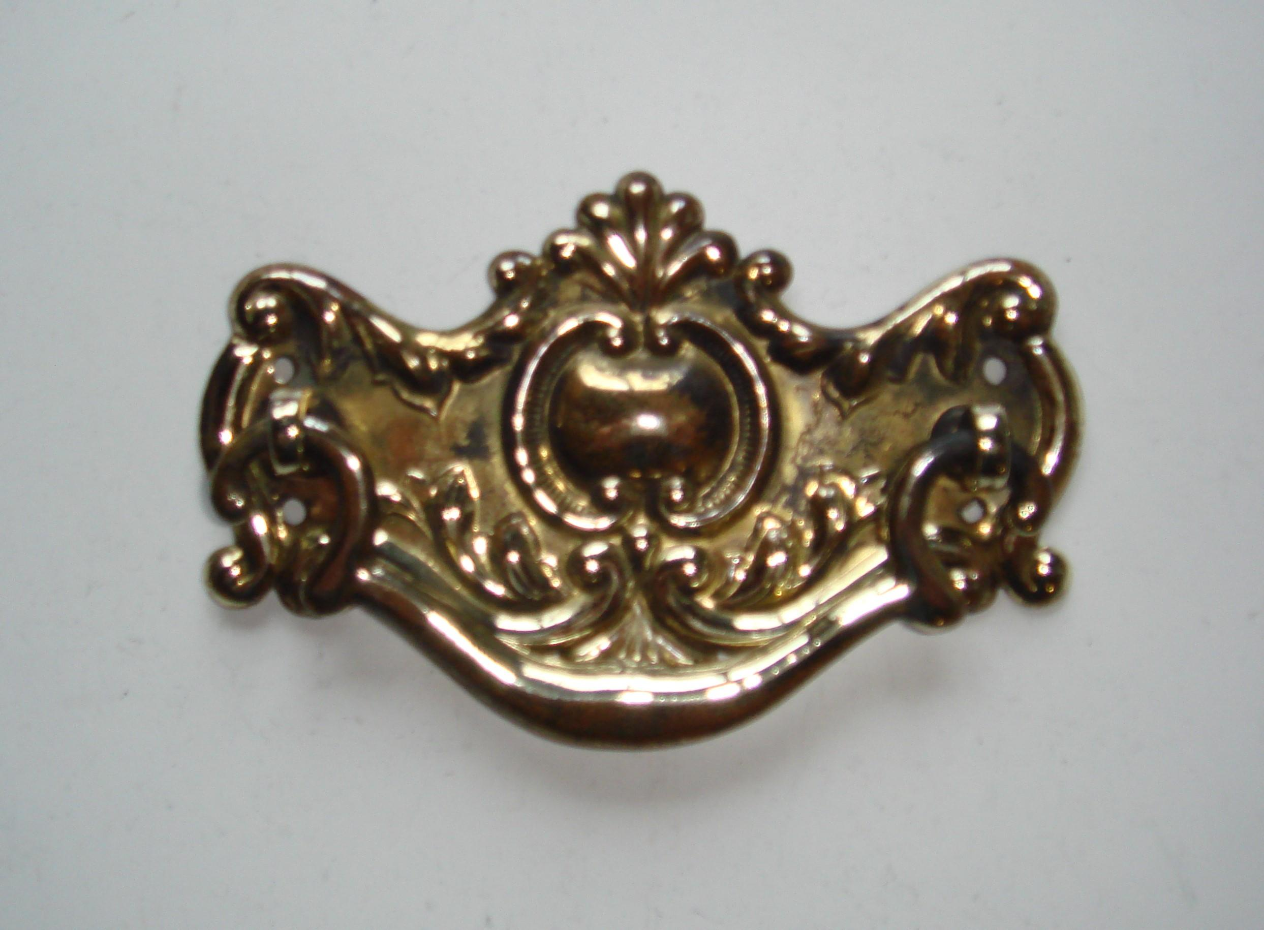 Victorian Brass Drop Handle for Cabinet, Drawer or Chest