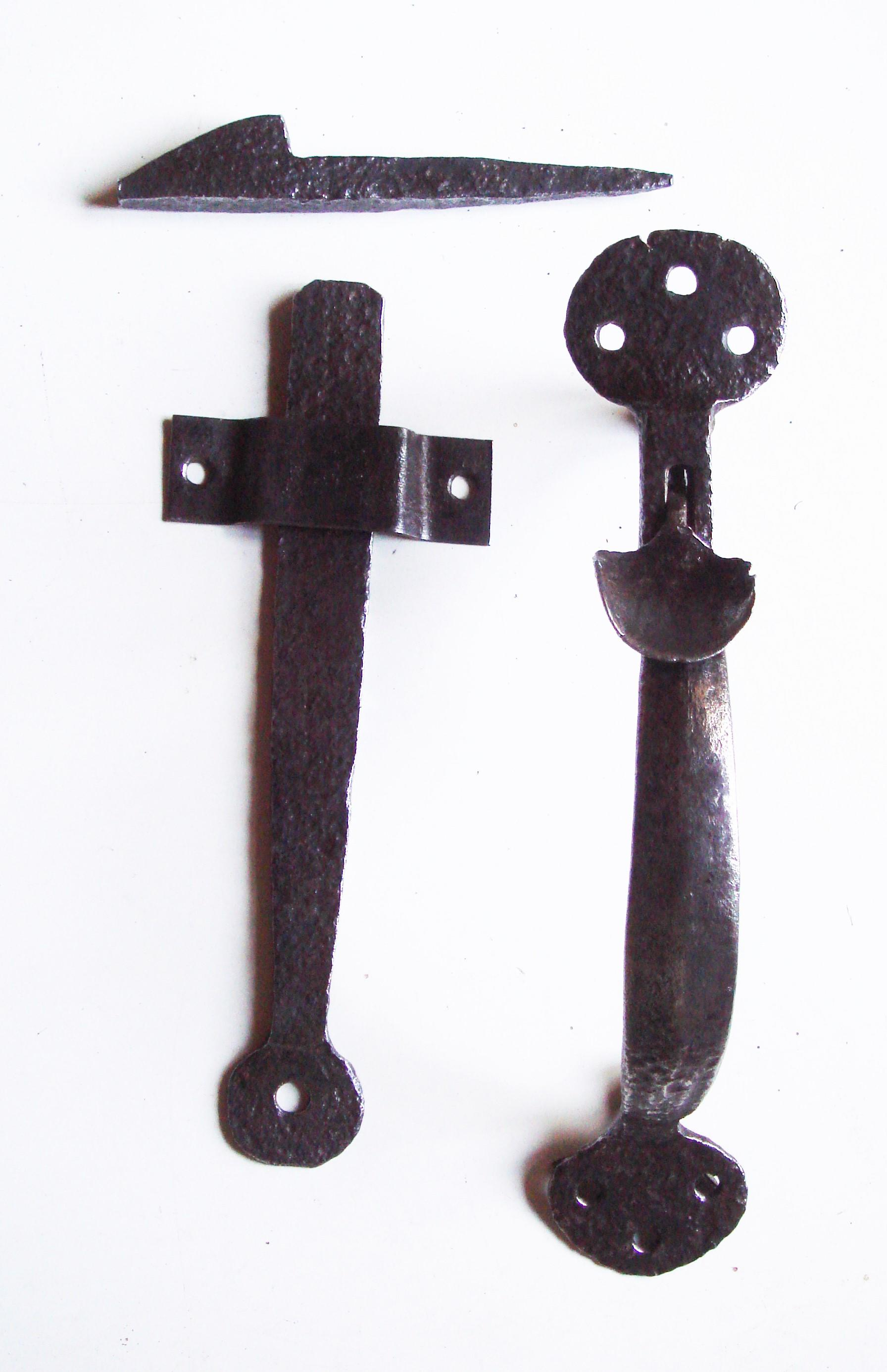 19th Century iron door latch