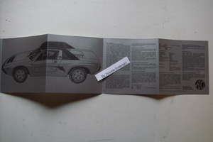 AC 3-Litre Mid Engined Sports Car 7-Fold Sales Brochure.