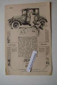 1926 Priced Advert For The British Made Ford Coupe