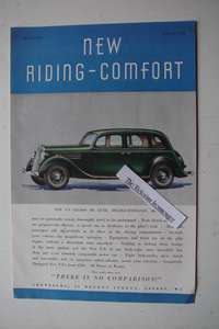 1935 Original Colour Advert for The New Ford V-8 Saloon De Luxe Double-Entrance Saloon Car