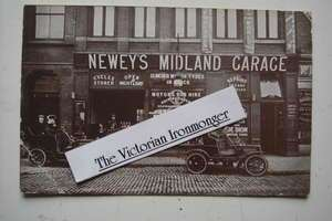 Edwardian Advertising Postcard for Newey's Midland Garage, Station Street, Birmingham