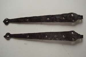 Pair of 18th Century Iron Hinges for Plank & Cottage Doors