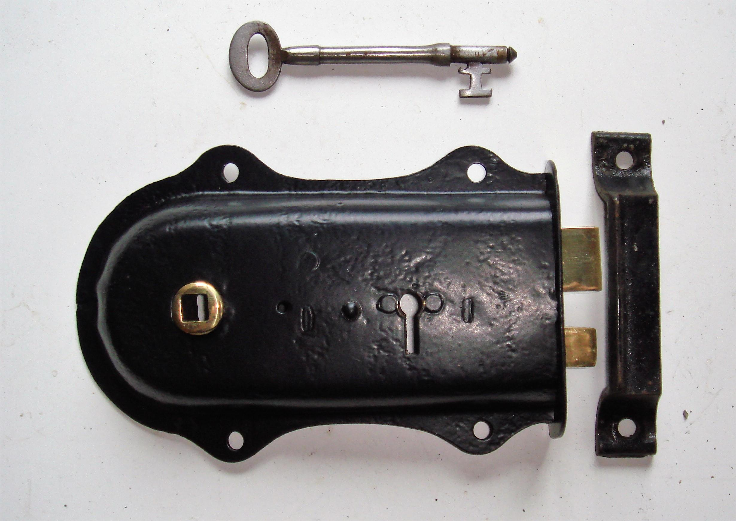 Restored Edwardian Lockable Rim Latch