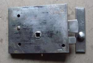 Georgian or early Victorian steel cased rim latch.