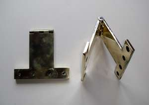 Pair of Heavy Cast Brass Vintage Parliament or Projection Door Hinges