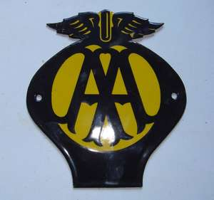 AA Enamel Badge
