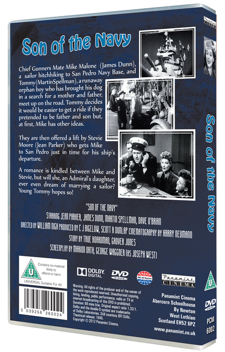 Son of the Navy Jean Parker DVD