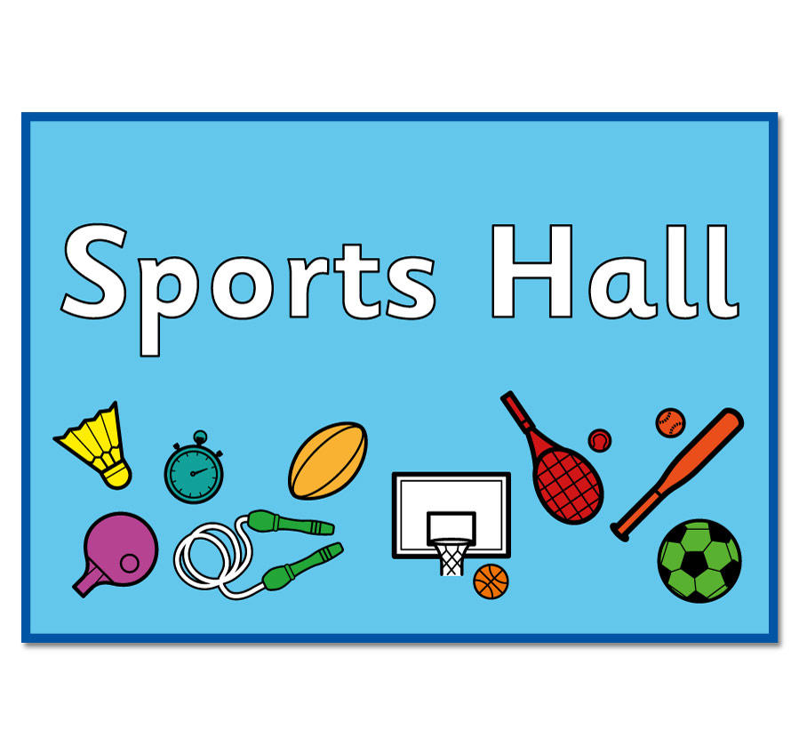 sports hall sign signs code panel