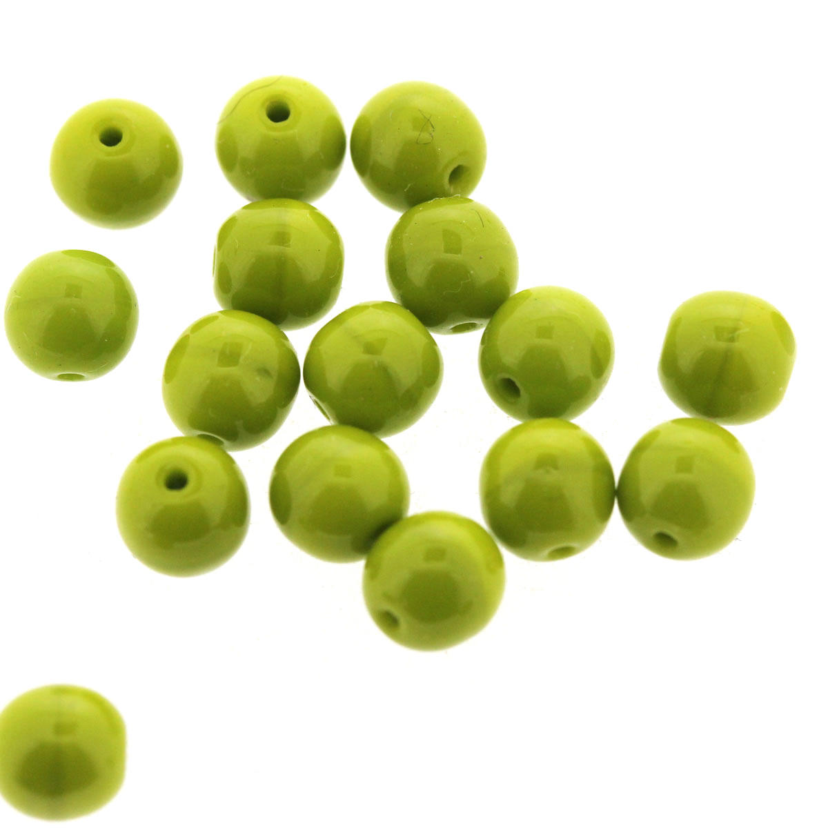 Lime Green Pea Glass Beads - Code 75/08